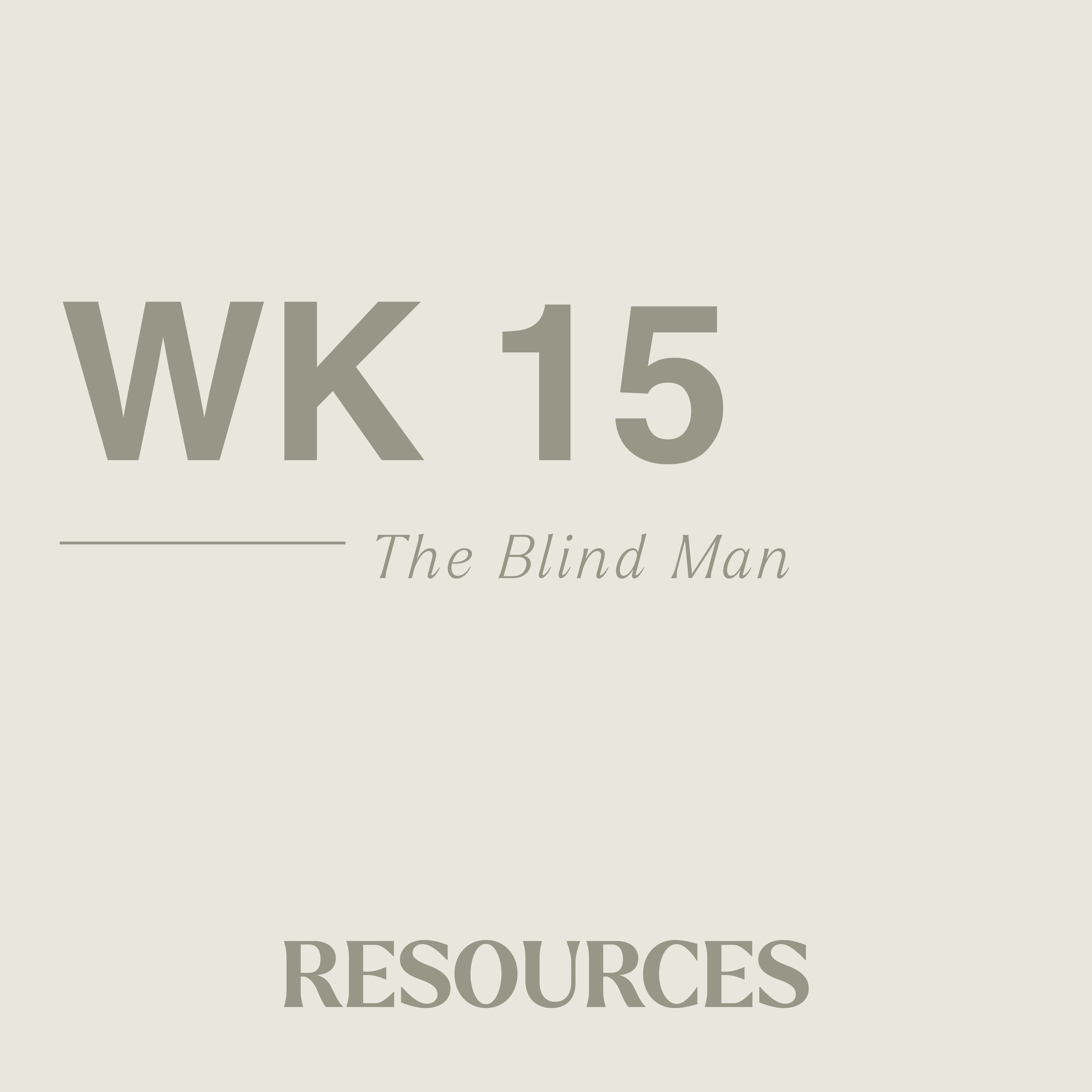 John week fifteen resouces