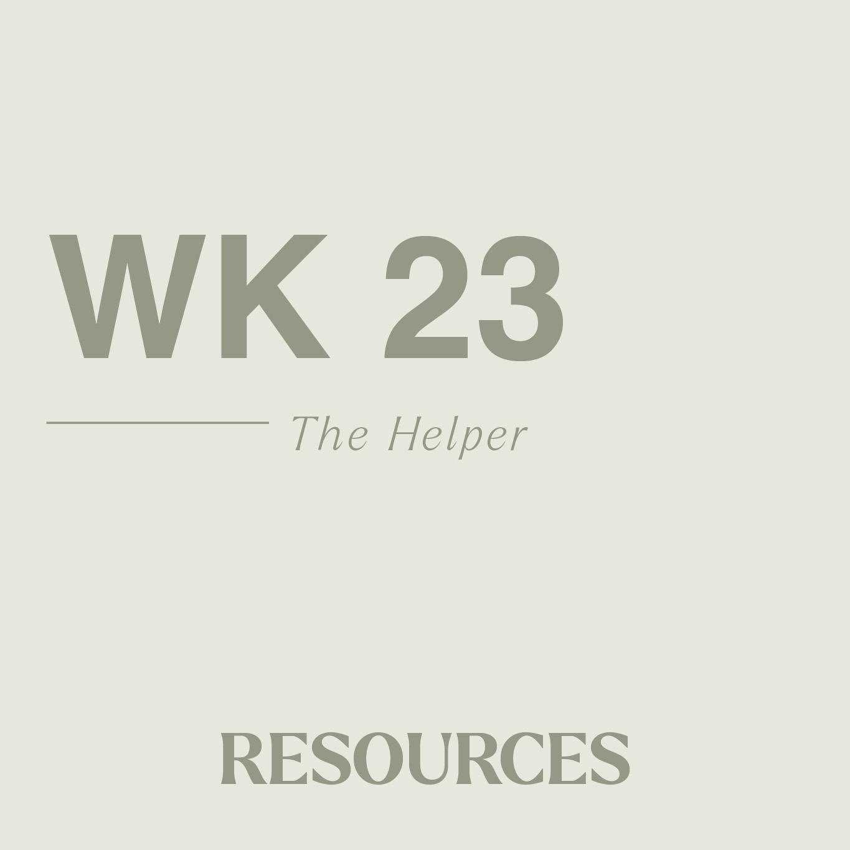John week twenty three resouces